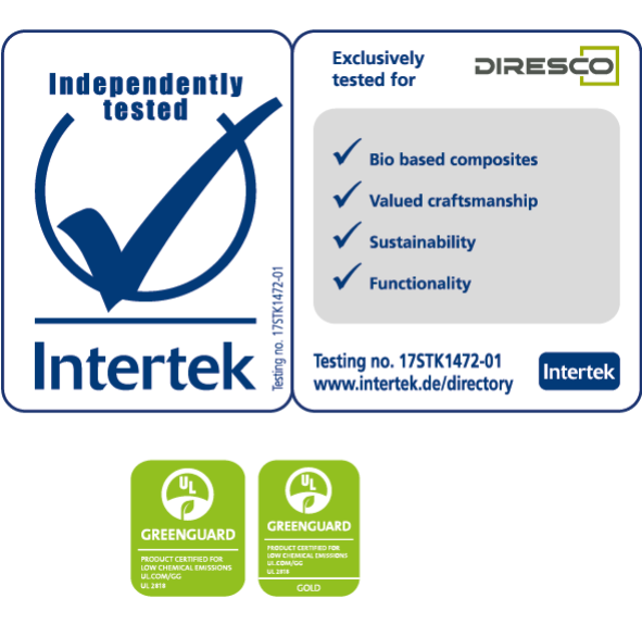Greenguard, Intertek and NSF certification