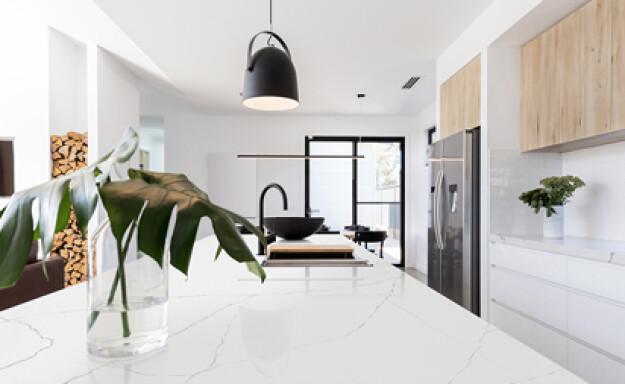 Elegant marmeren keukenwerkblad